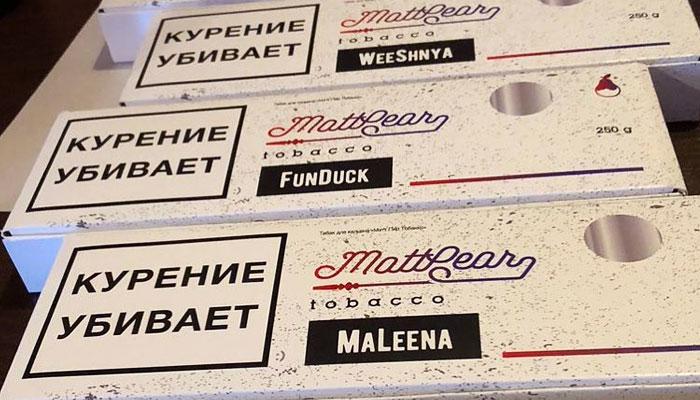 Линейка табака MattPear   Вкусы табака MattPear